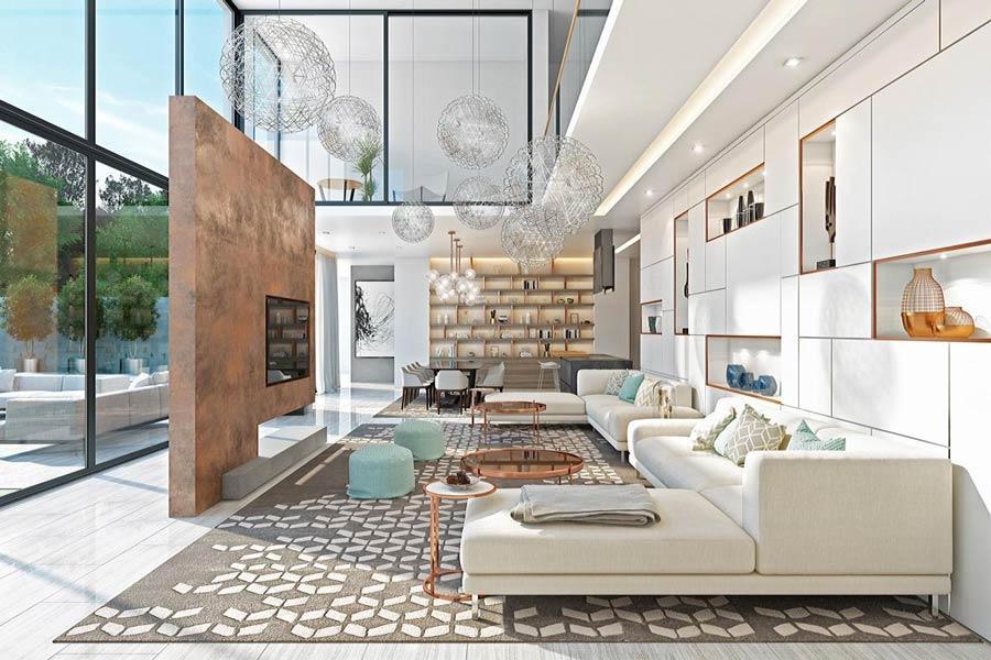 Bước đầu tiên của thiết kế phòng khách đẹp đó chính là sự bố trí