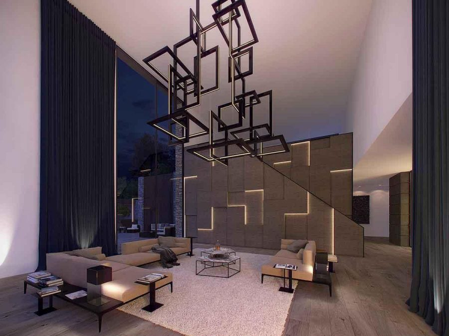 Quyến rũ và ngọt ngào với không gian thiết kế phòng khách đẹp này