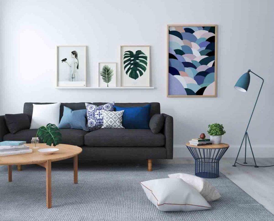 Sàn phòng khách là nơi chịu nhiều lực tác động nên việc lựa chọn loại tốt nhất là điều quan trọng