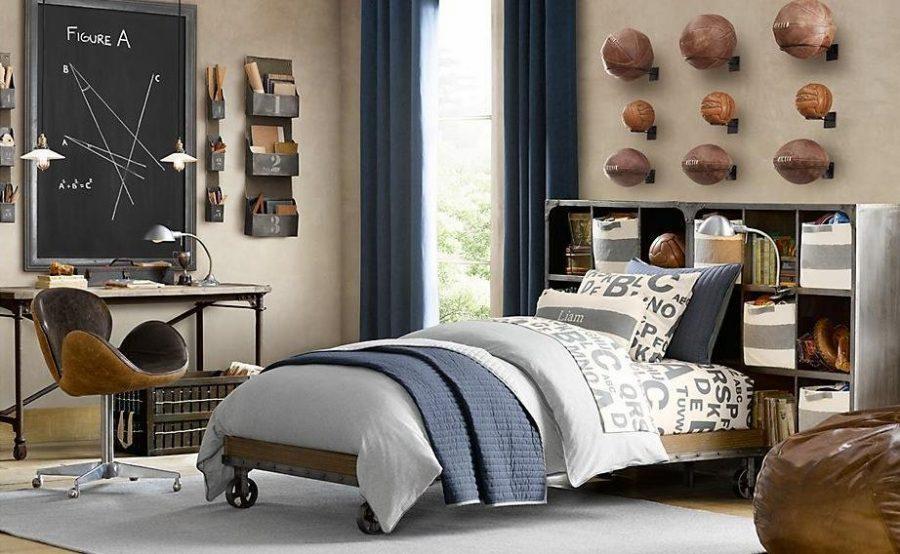 Phòng ngủ được trang trí ấn tượng với những quả bóng