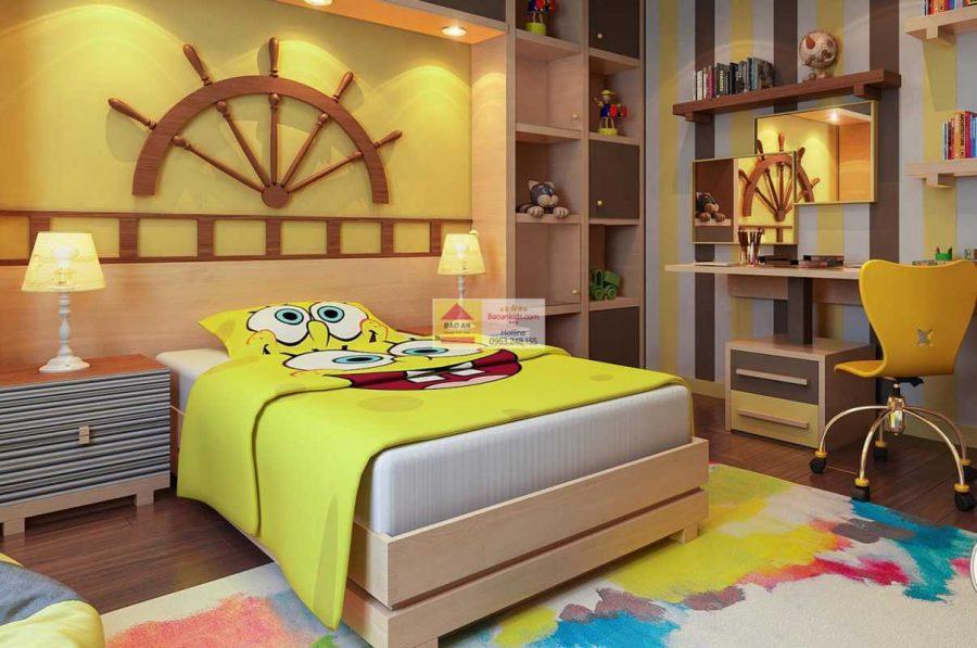 Thiết kế phòng ngủ rực rỡ và ấm áp cho con trai