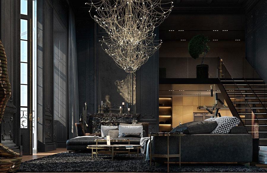 Sự trở lại của màu đen thiết kế nội thất 2021