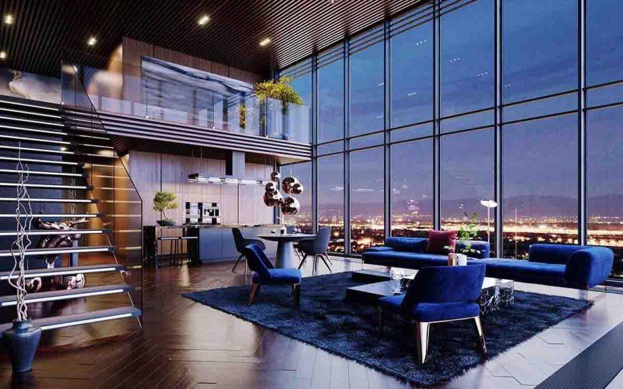 Những món đồ nội thất trong các căn hộ Penthouse đều rất sang trọng
