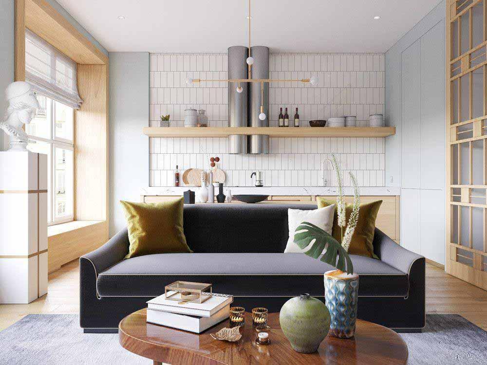 mẫu thiết kế căn hộ Studio nổi bật