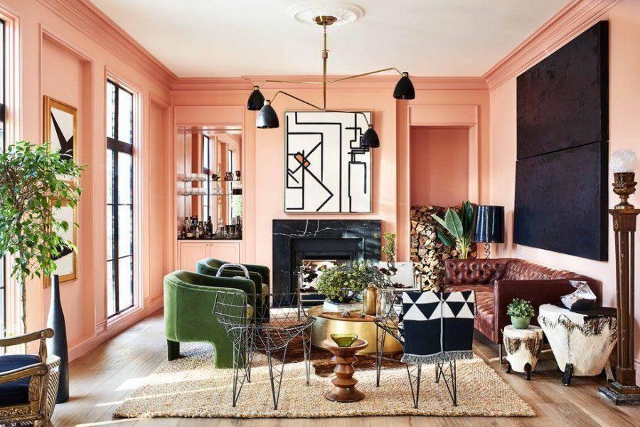 Màu hồng trong thiết kế nội thất đầy tính ngọt ngào và nữ tính