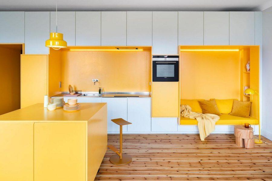 Sự lạc quan và vui vẻ trong gam màu vàng