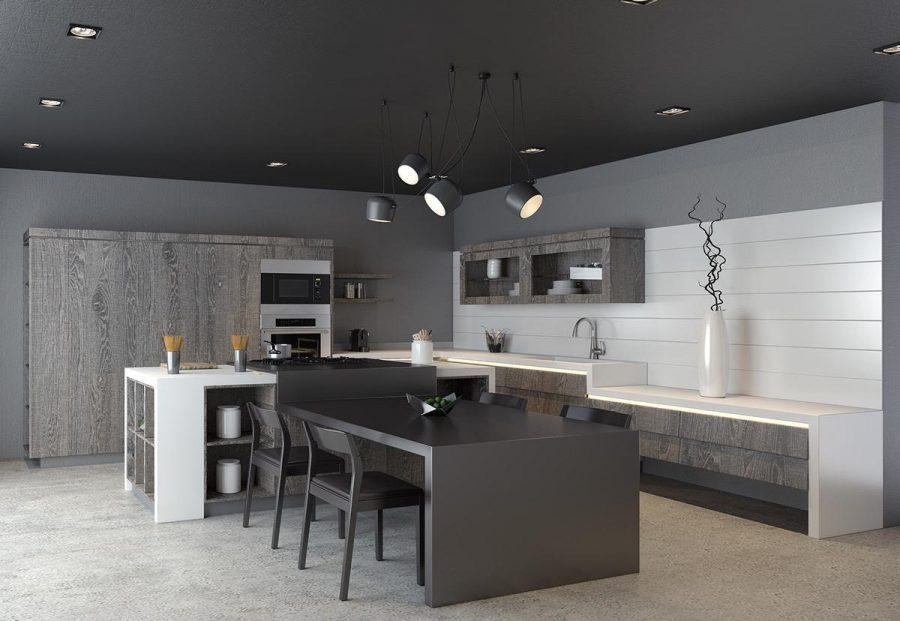 Thiết kế bếp đẹp, hiện đại đầy tinh tế với tông màu tối