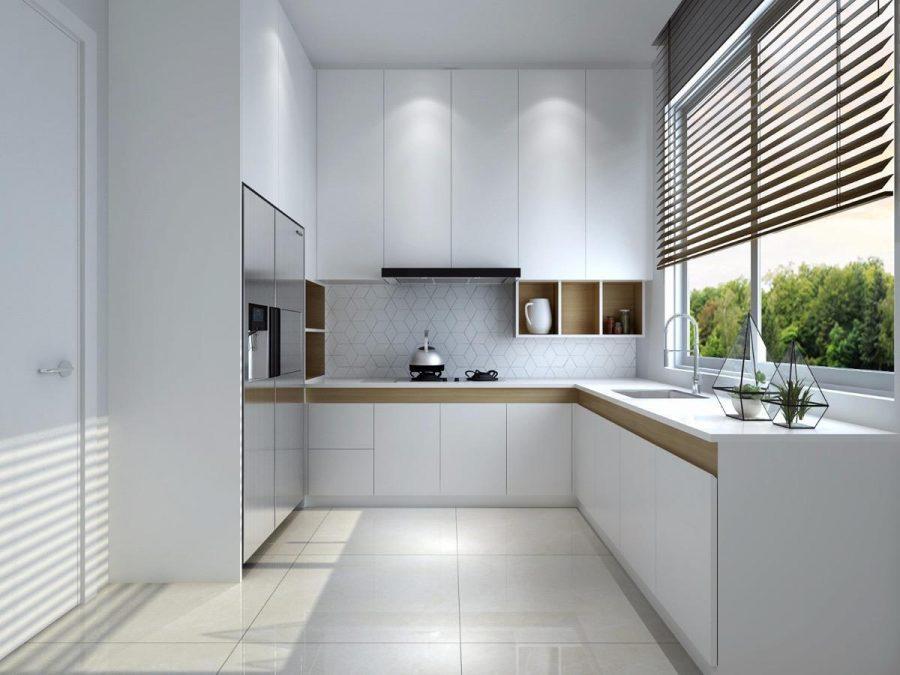 Ánh sáng tự nhiên giúp không gian bếp được trở nên sáng sủa hơn bao giờ hết