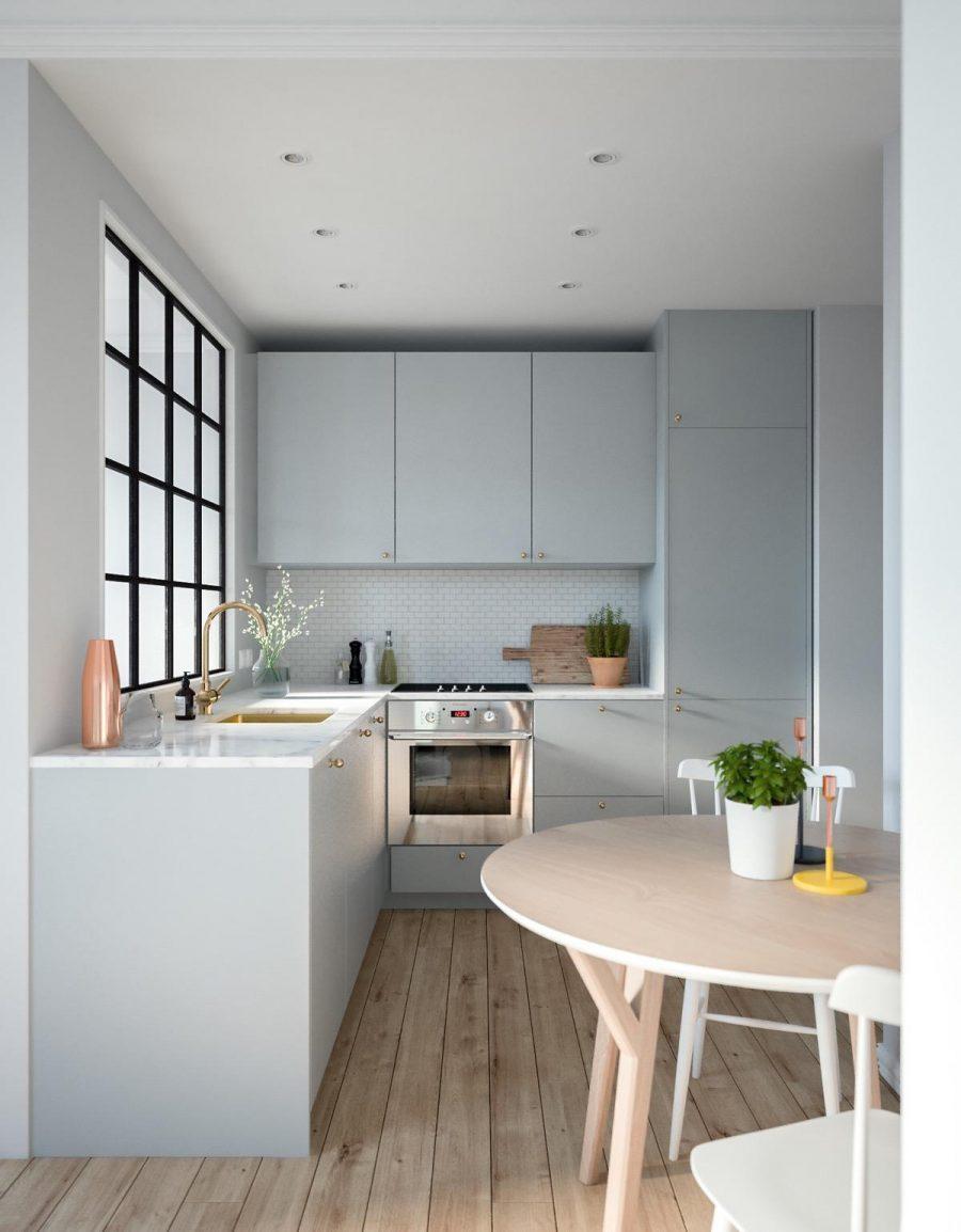 Nhà bếp nhỏ gọn, đơn giản nhưng rất ấn tượng
