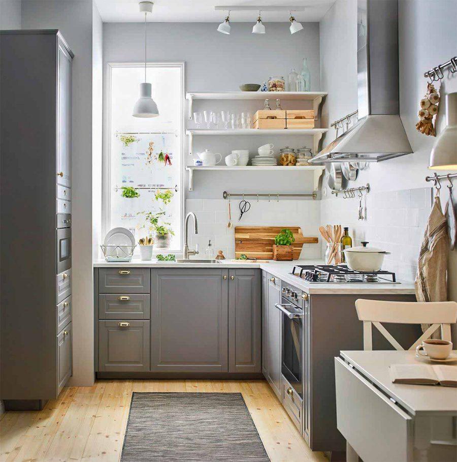 Thiết kế bếp đẹp với những móc treo đầy tiện dụng