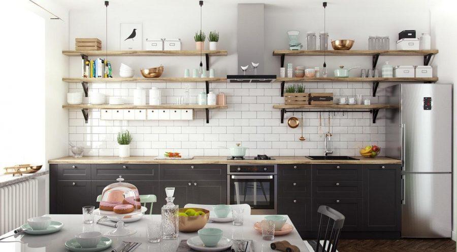 Các giá đựng đồ tiện ích trên bếp