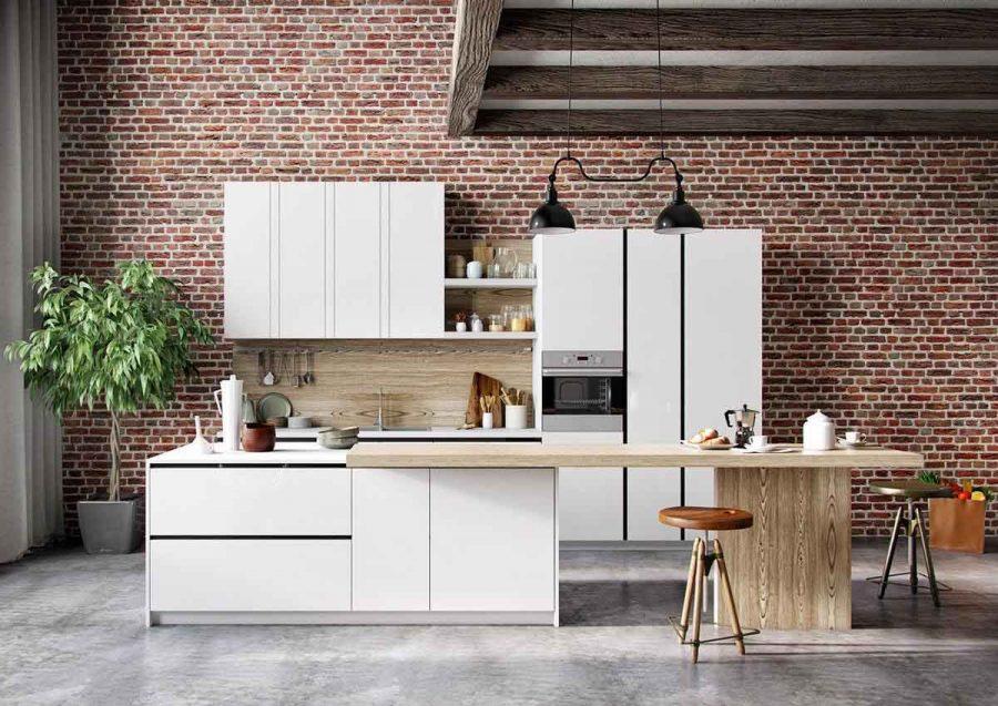 Sự cân bằng giữa các vật liệu tạo nên vẻ đẹp hoàn chỉnh cho nhà bếp