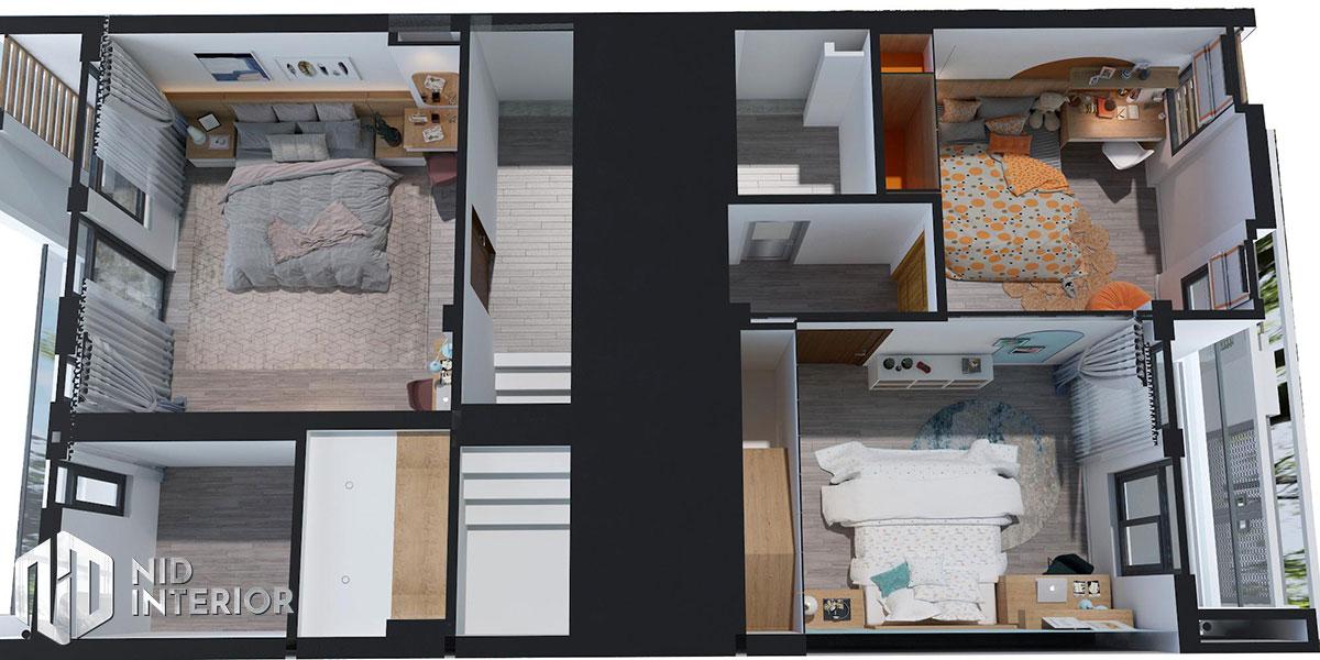 Thiết kế kiến trúc nội thất biệt thự phố 300m2 - Mặt bằng tầng 1