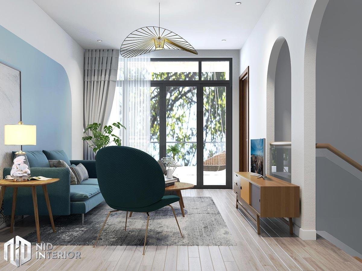 Thiết kế kiến trúc nội thất biệt thự phố 300m2 - Phòng thư giản