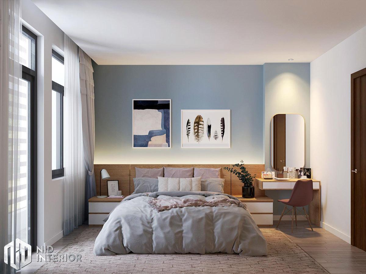 Thiết kế kiến trúc nội thất biệt thự phố 300m2 - Phòng ngủ master