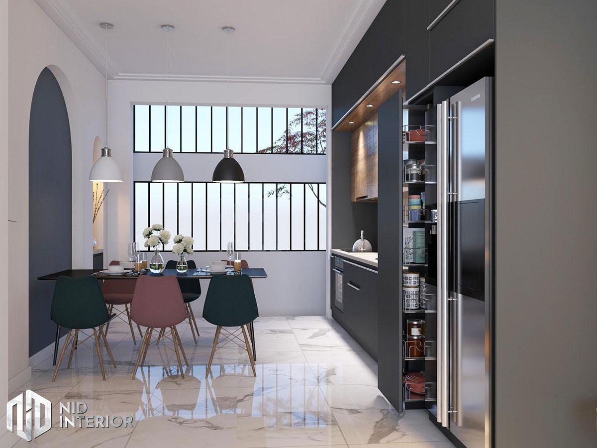 Thiết kế kiến trúc nội thất biệt thự phố 300m2 - Bếp và bàn ăn