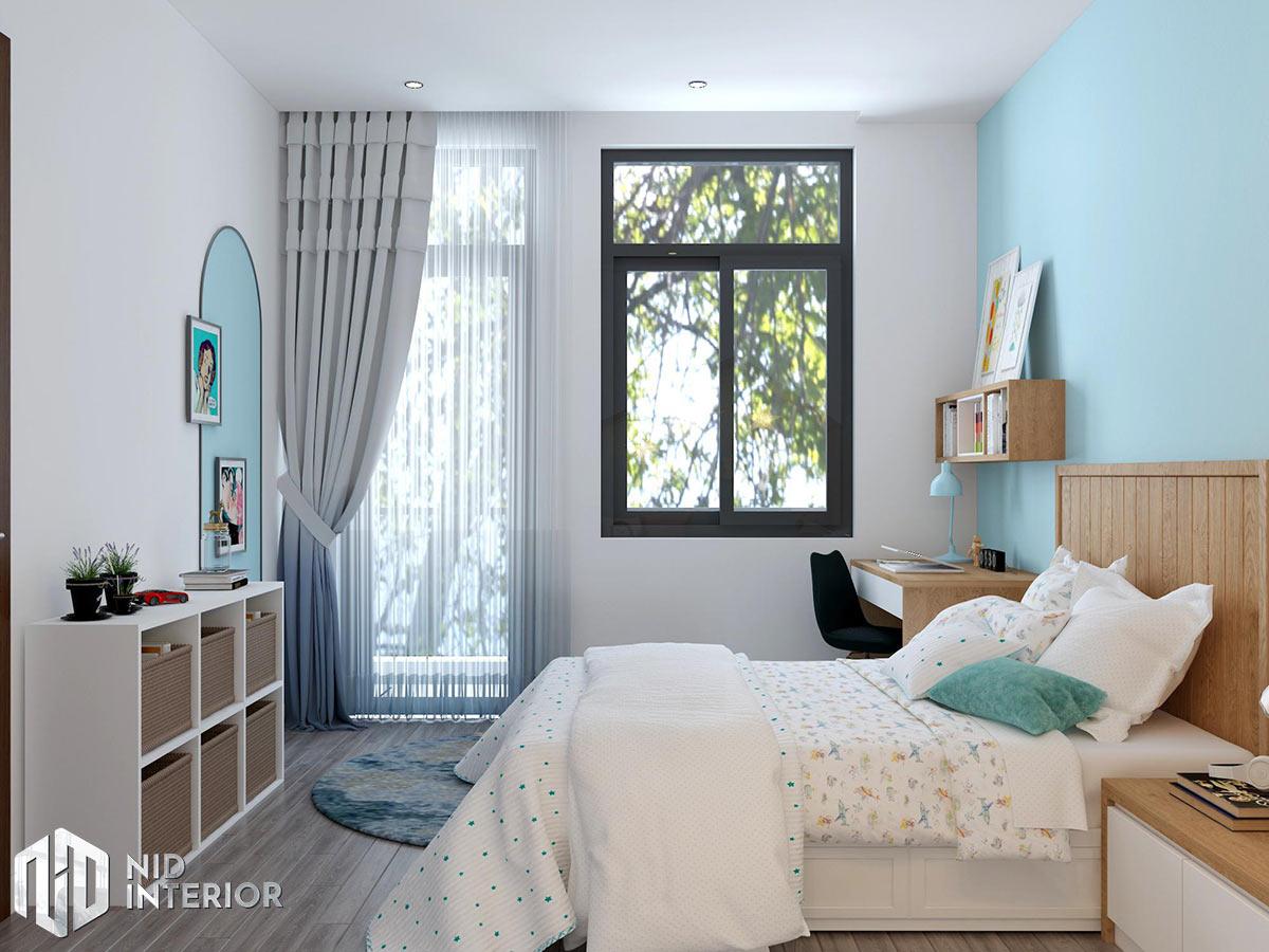 Thiết kế kiến trúc nội thất biệt thự phố 300m2 - Phòng ngủ 1
