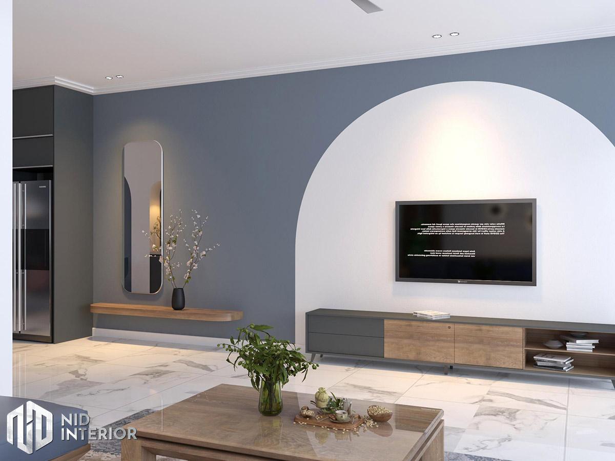 Thiết kế kiến trúc nội thất biệt thự phố 300m2 - Phòng khách