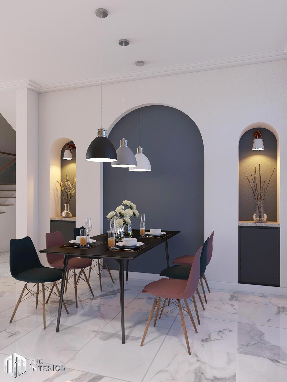 Thiết kế kiến trúc nội thất biệt thự phố 300m2 - Bàn ăn