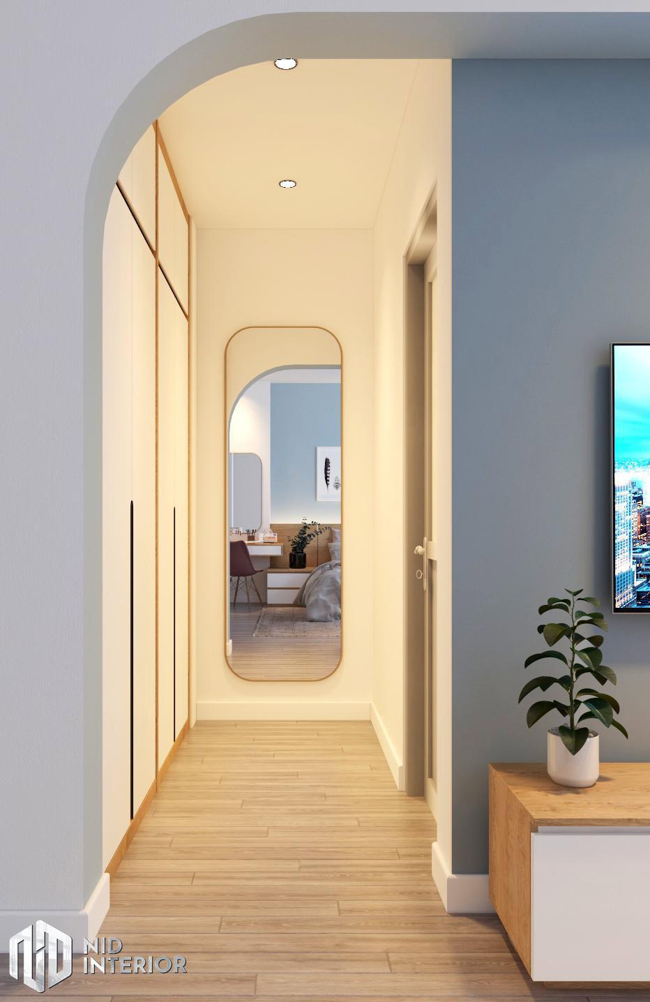 Thiết kế kiến trúc nội thất biệt thự phố 300m2 - Tủ quần áo phòng ngủ master