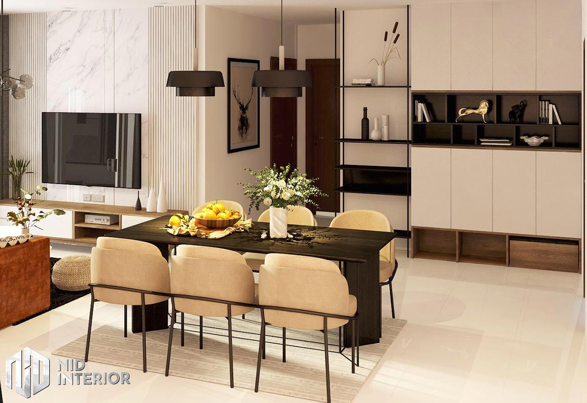 Thiết kế nội thất căn hộ Thủ Thiêm Dragon - Bàn ăn