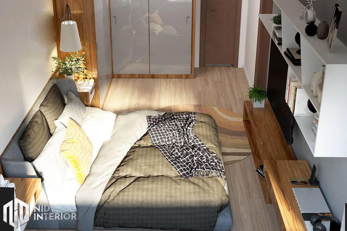 Thiết kế nội thất căn hộ Thủ Thiêm Dragon - Phòng ngủ