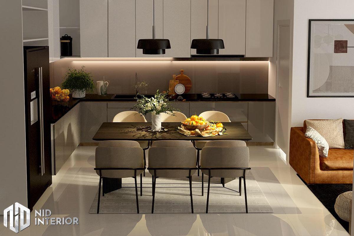 Thiết kế nội thất căn hộ Thủ Thiêm Dragon - Bếp bàn ăn