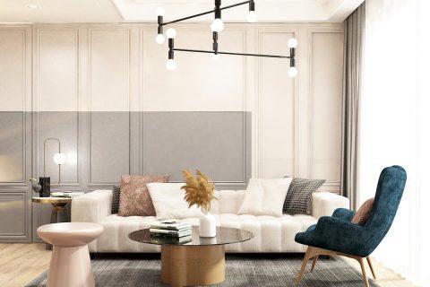 Thiết kế nội thất căn hộ Vinhomes Grand Park 3 phòng ngủ