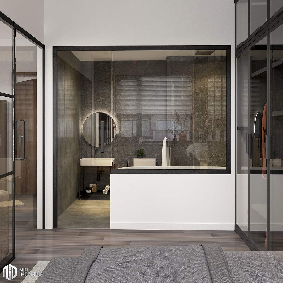 Thiết kế nội thất căn hộ Vinhomes Grand Park 50m2 - Phòng vệ sinh