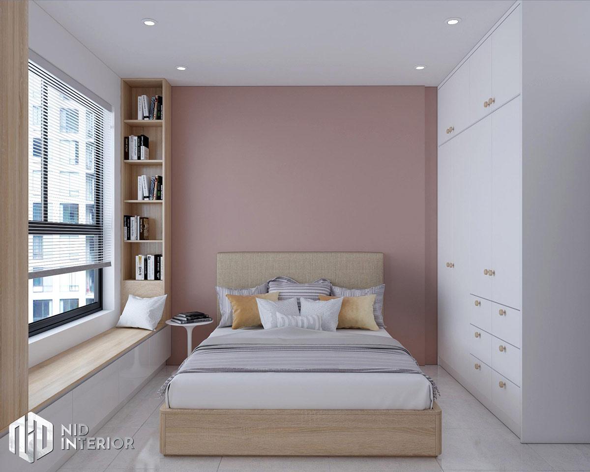 Thiết kế nội thất căn hộ Vinhomes Grand Park 53m2 - Phòng ngủ master