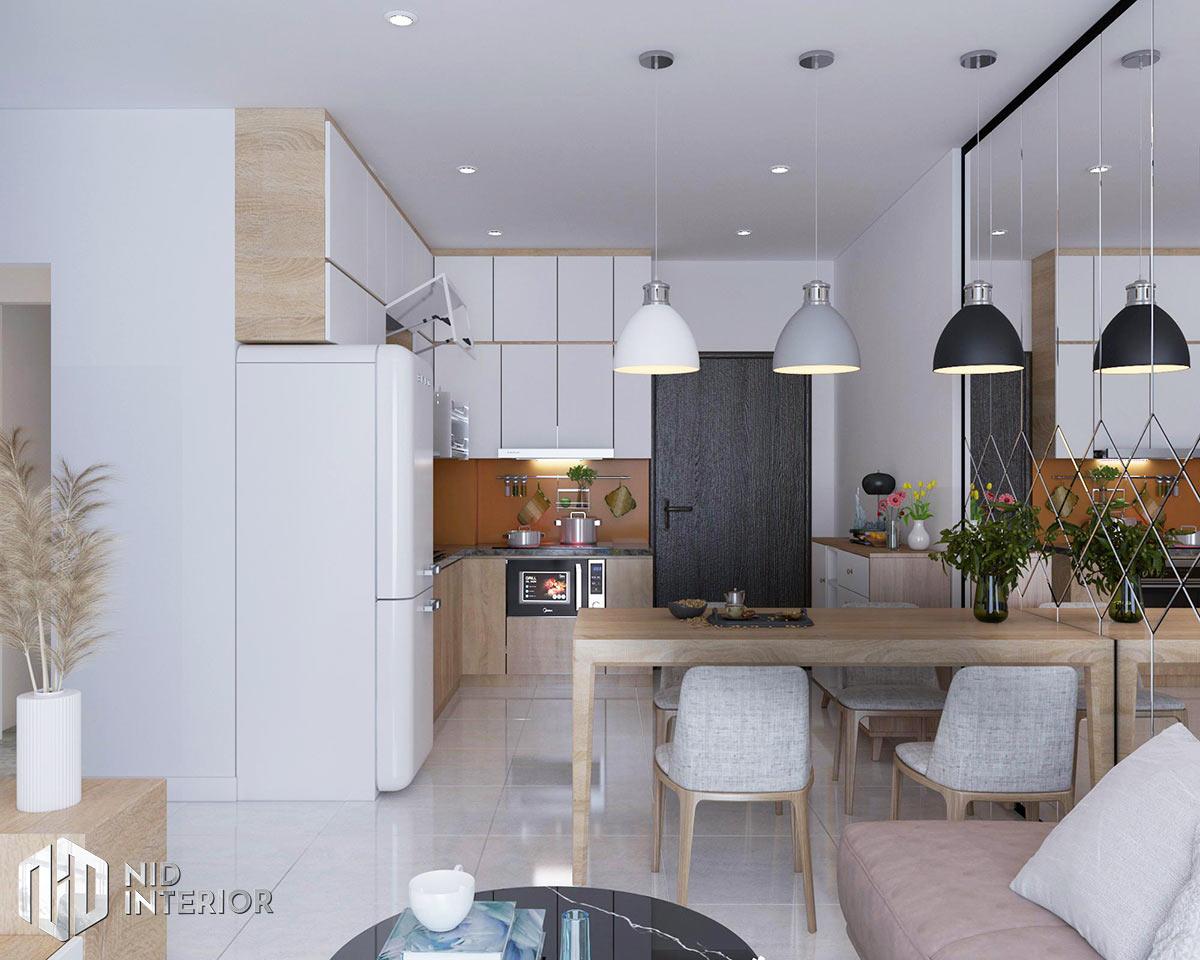 Thiết kế nội thất căn hộ Vinhomes Grand Park 53m2 - Khu vực bếp ăn
