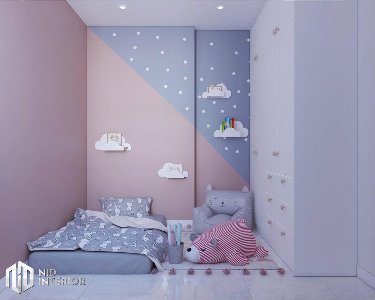 Thiết kế nội thất căn hộ Vinhomes Grand Park 53m2 - Phòng ngủ trẻ em