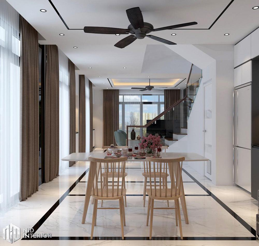 Thiết kế nội thất nhà phố Vũng Tàu 250m2 - Bàn ăn