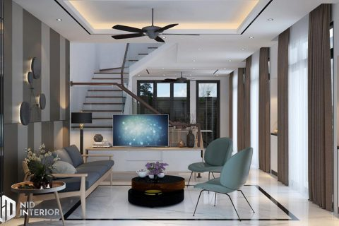Thiết kế nội thất nhà phố Vũng Tàu 250m2