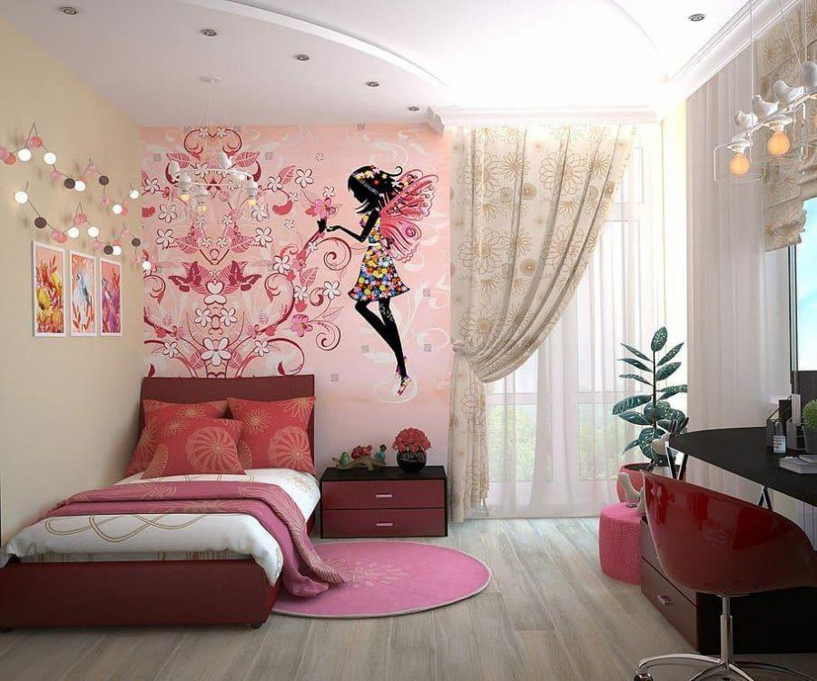 Họa tiết trang trí được thiết kế cực ấn tượng trong phòng ngủ của bé