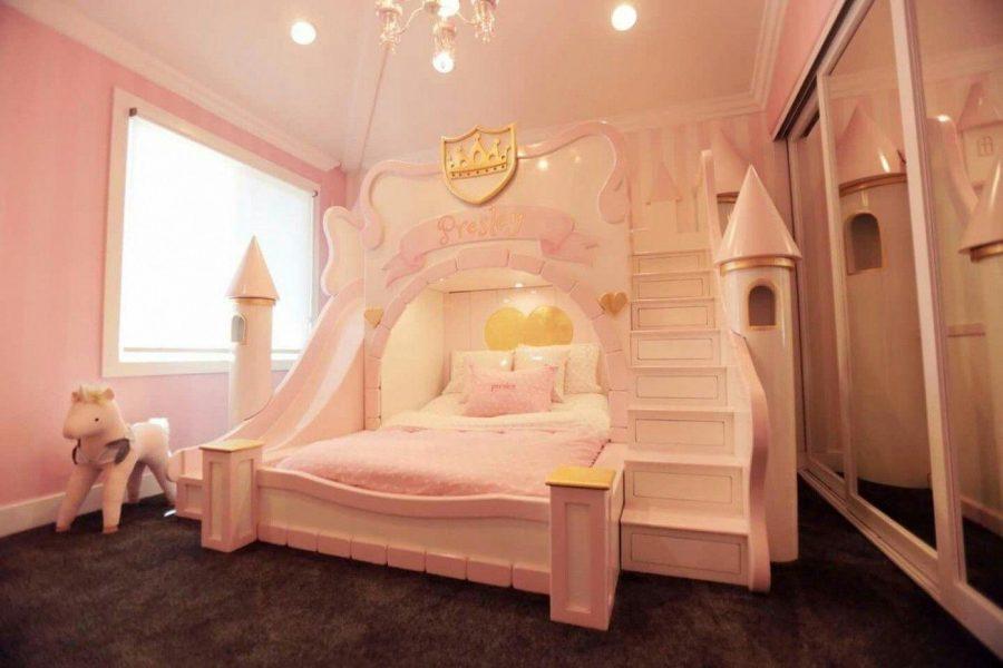 Phòng ngủ cho bé gái theo kiểu lâu đài