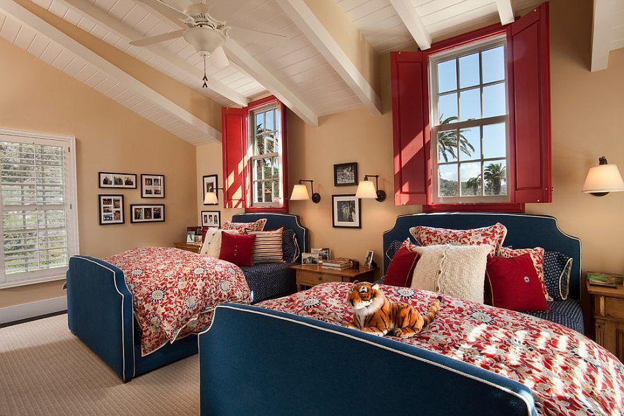 Phòng ngủ đôi cho bé gái ngập tràn ánh nắng
