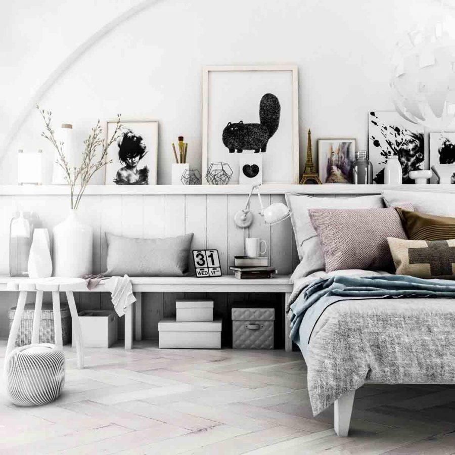 Phòng ngủ phong cách Scandinavian ấn tượng