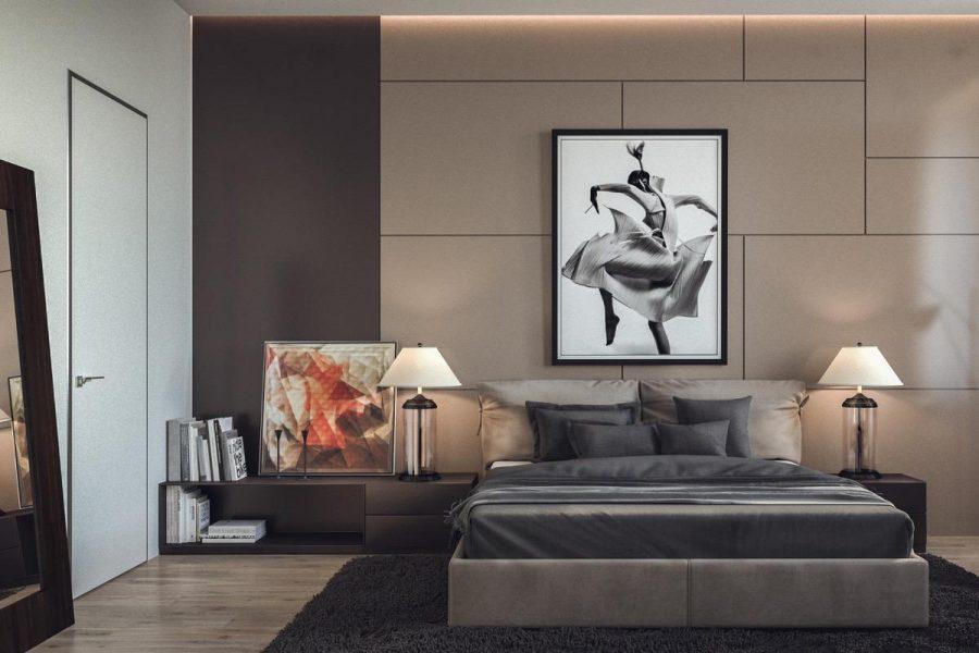 Bố trí giường ngủ hợp lý trong thiết kế phòng ngủ đẹp