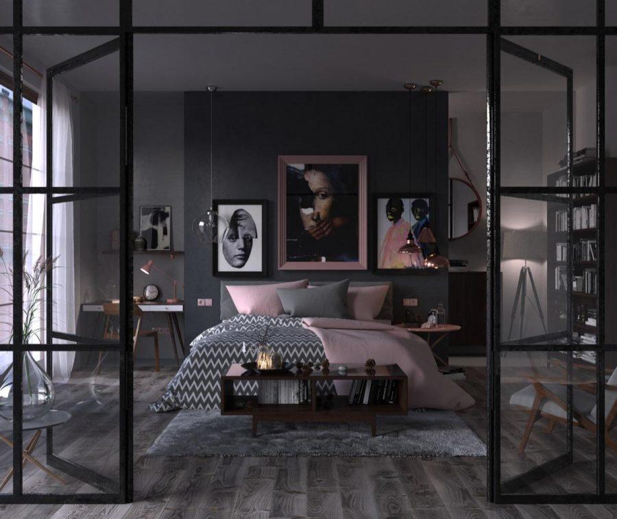 Không gian phòng ngủ được thiết kế và trang trí ấn tượng