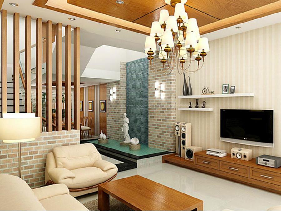 Vách ngăn phòng khách và nhà bếp thường thấy trong các không gian mở