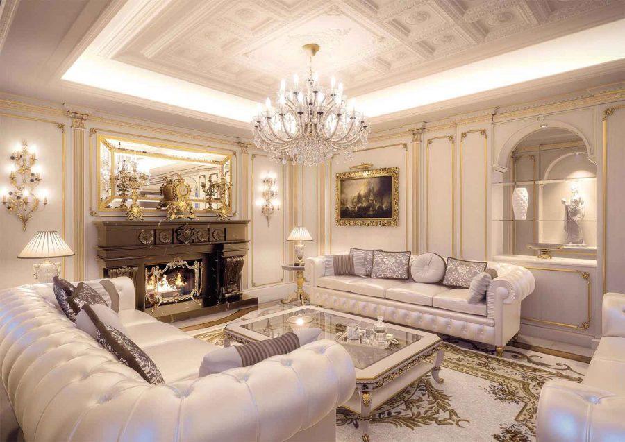 Phòng khách cổ điển sở hữu những nét nổi bật và cuốn hút