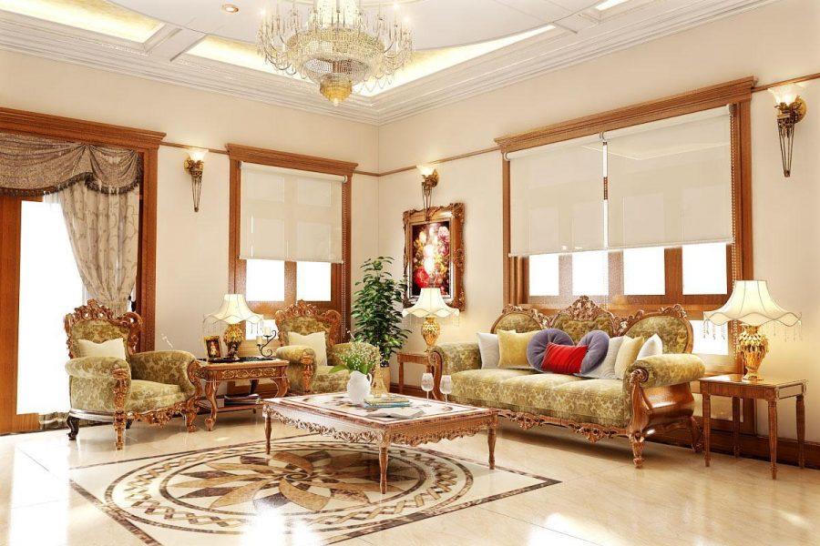Phòng khách cổ điển tại Việt Nam