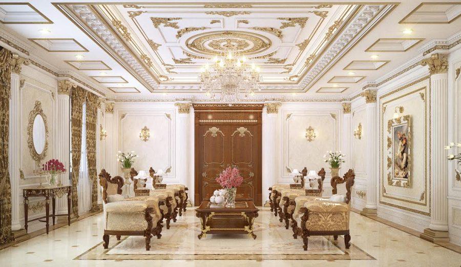 Phòng khách phong cách Pháp cực ấn tượng