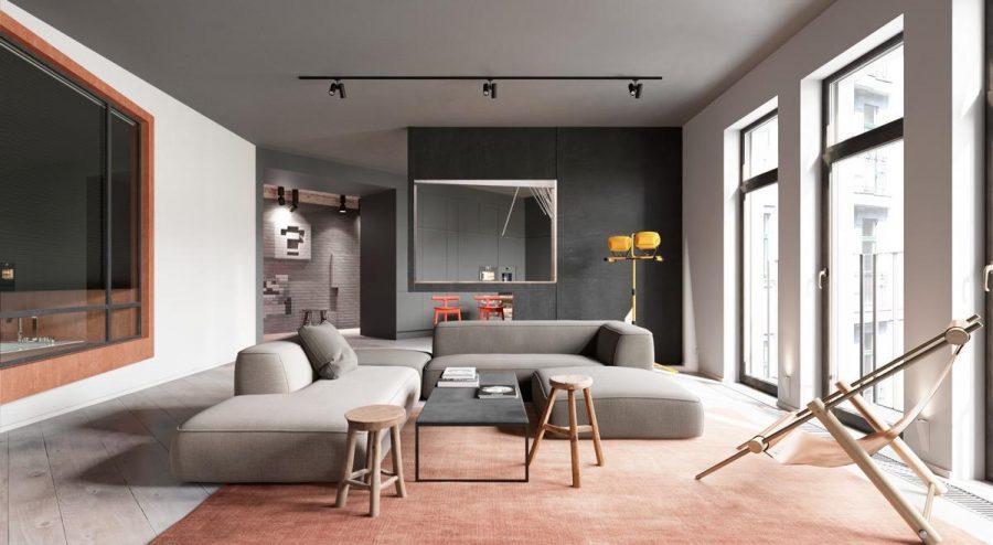 Nguyên tắc khi thiết kế phòng khách hiện đại luôn lấy ít hơn nhiều