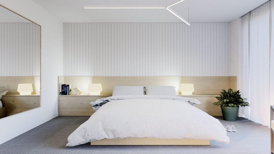 Không khó để lên kế hoạch thiết kế phòng ngủ tối giản