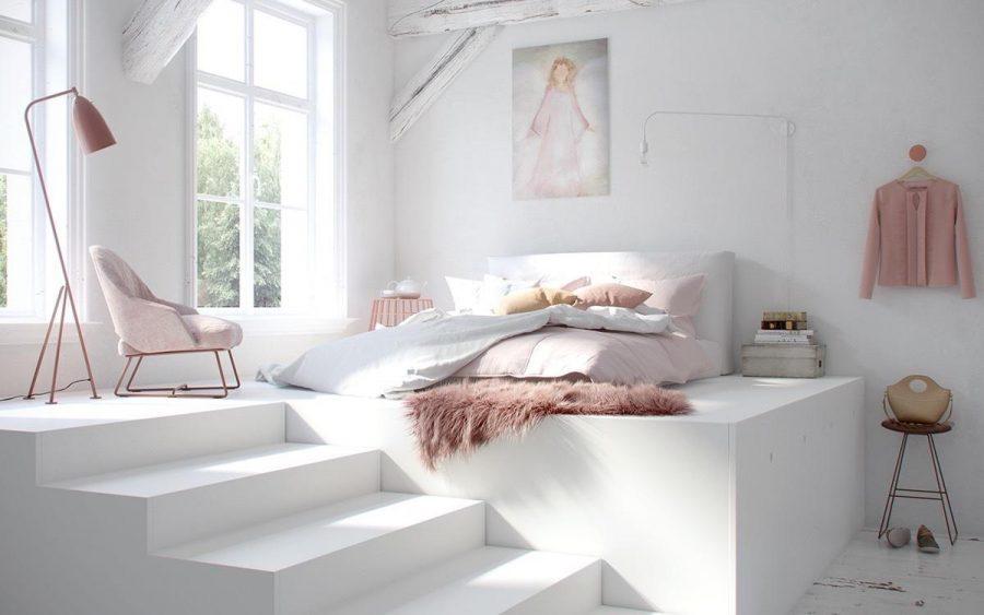 Phòng ngủ tối giản đầy nữ tính và ngọt ngào
