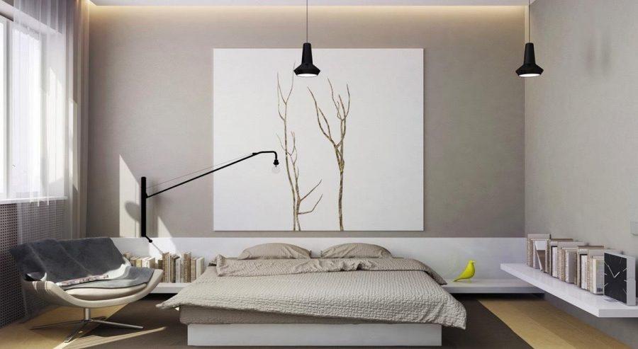 Chỉ đặt duy nhất một bức tranh trong không gian phòng ngủ