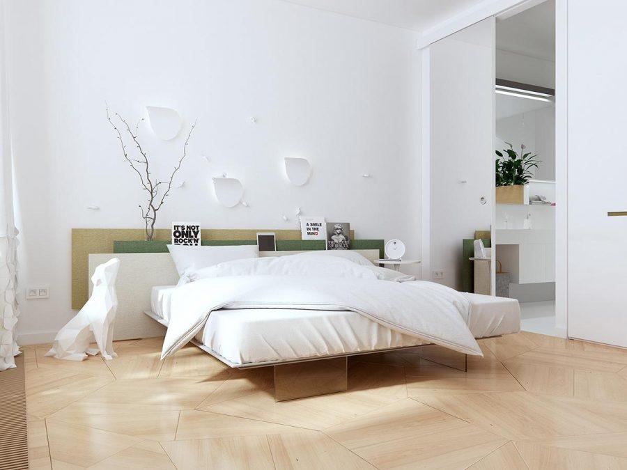 Sự quyến rũ và nữ tính trong phòng ngủ đẹp màu trắng này là điều không thể bỏ qua