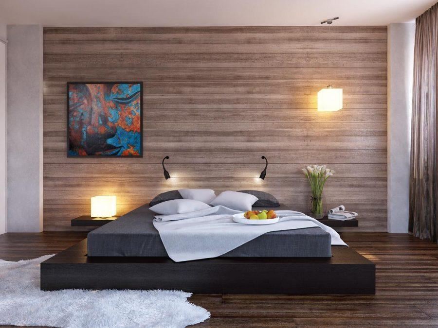 Đồ nội thất đơn giản gần như là điều cần thiết để đảm bảo rằng một căn phòng ốp gỗ duy trì tính thẩm mỹ